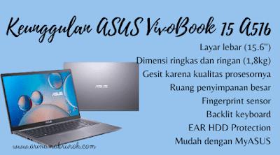 Keunggulan Laptop ASUS VivoBook 15 A516