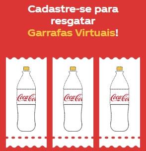 Cadastrar Coca-Cola Garrafas Virtuais Pague Apenas Líquido Rertonáveis