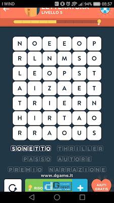 WordBrain 2 soluzioni: Categoria Letteratura (6X7) Livello 5