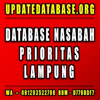 Jual Database Nasabah Lampung