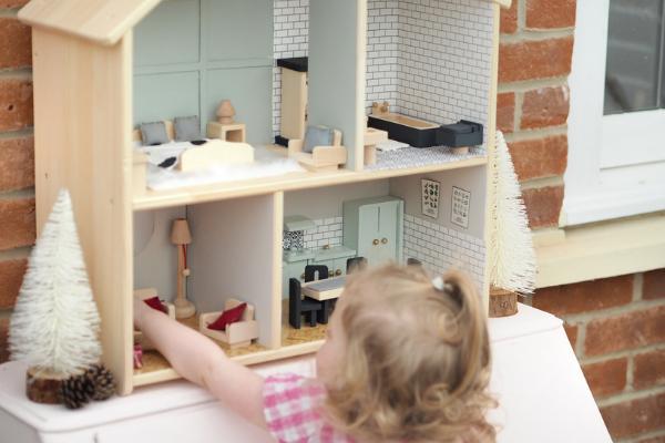 Diy Dollhouse Makeover Ikea Flisat Hack Dove Cottage