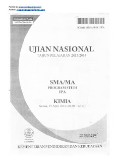 DOWNLOAD SOAL UN KIMIA 2014