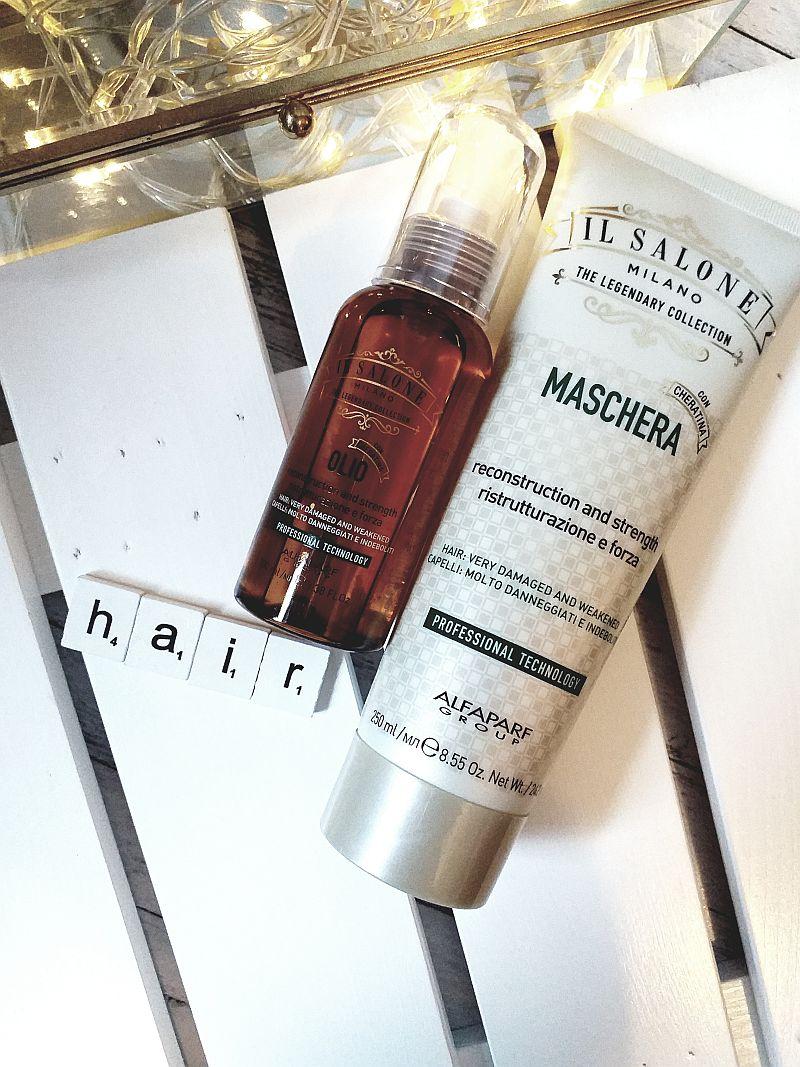 Maska do włosów suchych i zniszczonych oraz olejek keratynowy | Il Salone Milano