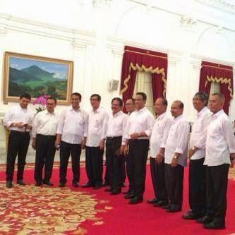 Nama Menteri Kabinet Kerja Jokowi-JK