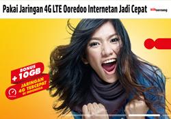 Pakai Jaringan 4G LTE Ooredoo Internetan Jadi Cepat