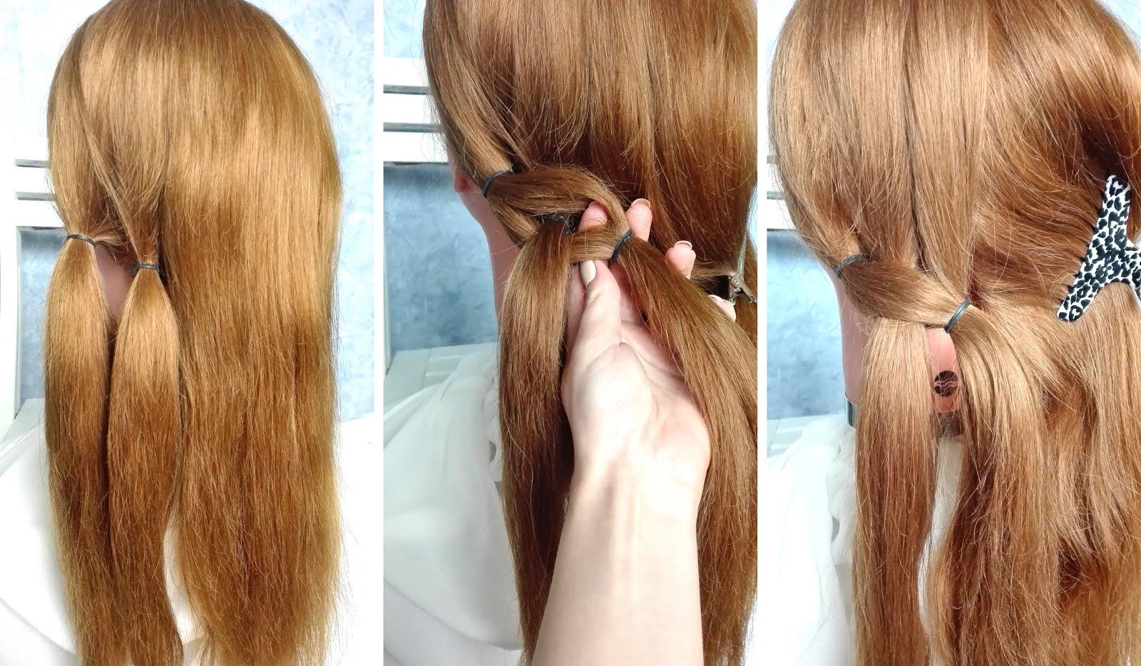3 Fryzury Z Oszukanym Warkoczem Krok Po Kroku Hair By Jul Fryzury