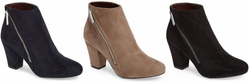 BCBGeneration Dorien Ankle Zip Booties $50 (reg $129)