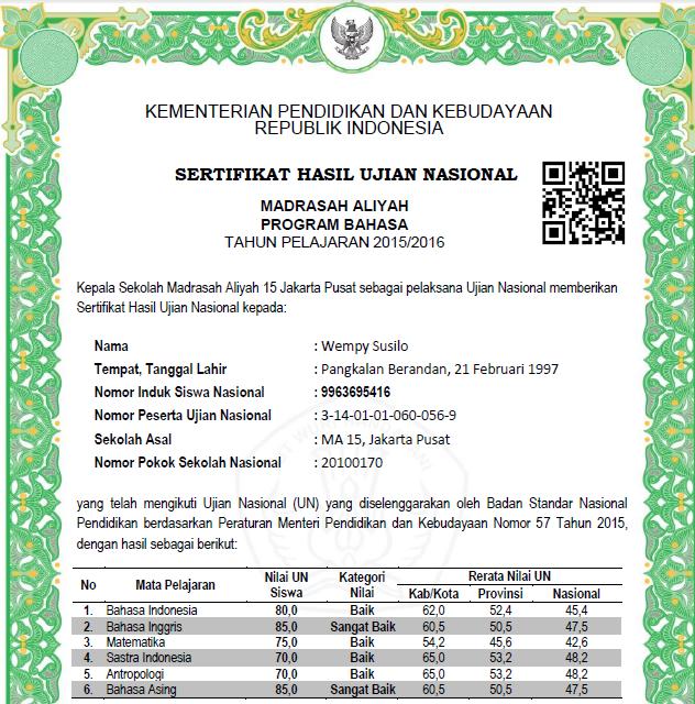 Format Ijazah Dan Shun Tahun 2016 Sd Sdlb Smp Sma Smk Paket Dari Balitbang Kemdikbud Data