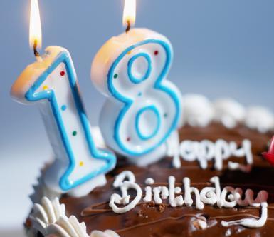 Happy Birthday Th Love  Relationship - Happy birthday 18 cake