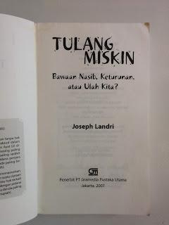 Tulang Miskin - Joseph Landri