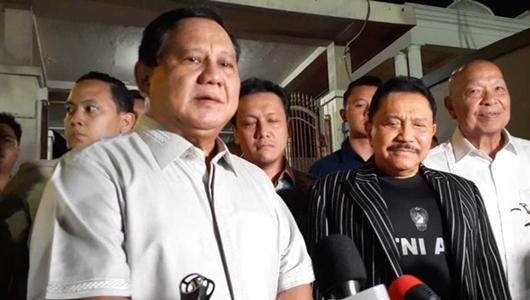 Usai Bertemu Hendropriyono, Prabowo soal Papua: Kita Harus Kompak Dukung Pemerintah