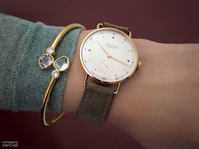 Nomos Glashütte Metro Rose Gold 33