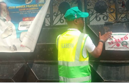 Eight mosques, churches seals over persistent environmental pollution In Lagos State