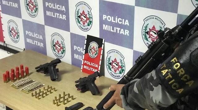Polícia apreende armas e munições durante ação de combate ao tráfico e homicídios em João Pessoa
