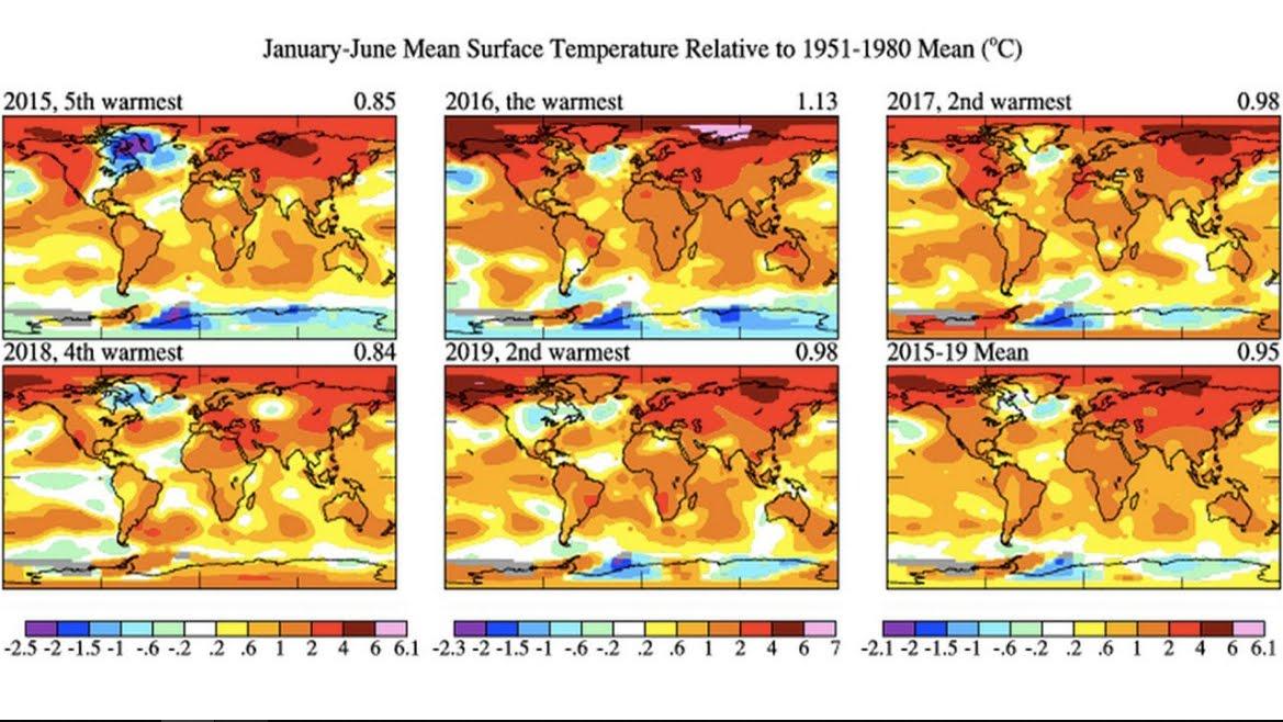 NASA: Giugno, il mese più caloroso mai registrato.