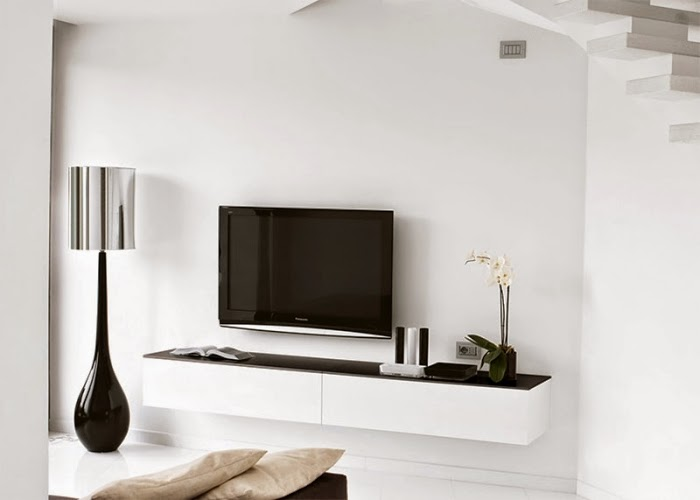 Living Room Wall Units With Storage Modern White Unit