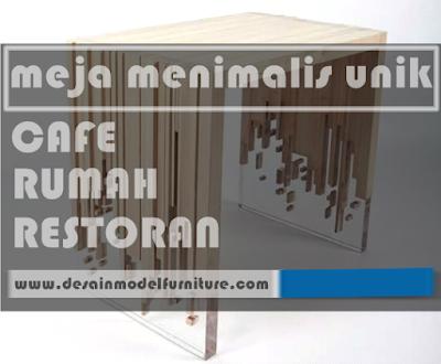 22 meja menimalis unik dari kayu yang cocok untuk cafe, restoran maupun rumah