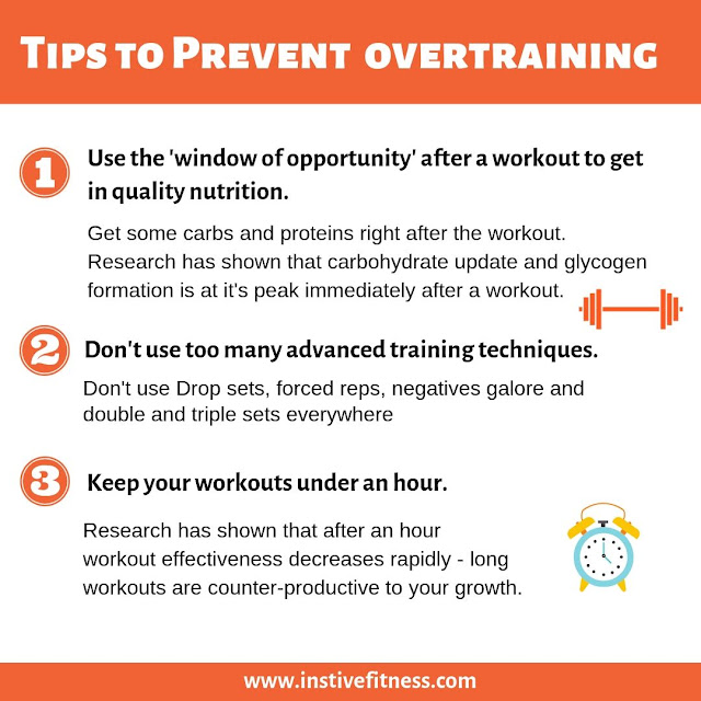 Tips to prevent overtraining