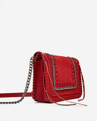 Immagine borsa in ecopelle rossa Zara