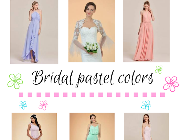 Pastel dresses for bridesmaids