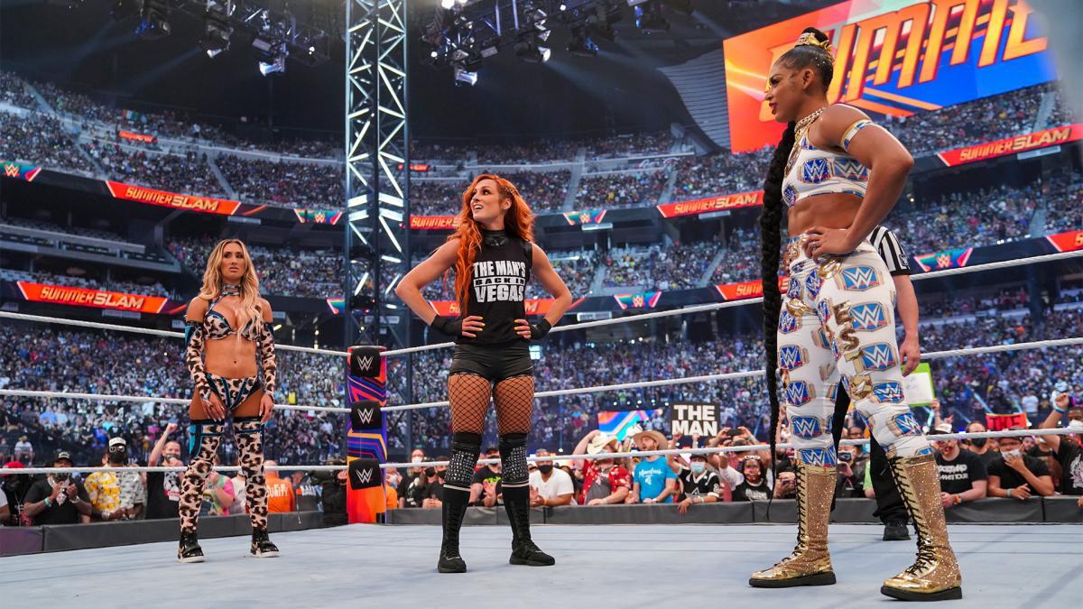 """Nikki Bella não gostou do """"booking"""" de Bianca Belair no WWE SummerSlam"""