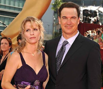 Patrick Warburton with his wife Cathy in an award function