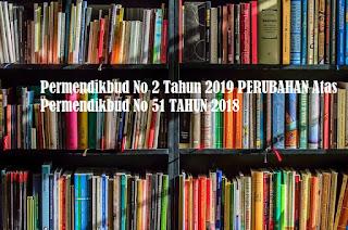 Permendikbud No 2 Tahun 2019 PERUBAHAN Atas Permendikbud No 51 TAHUN 2018