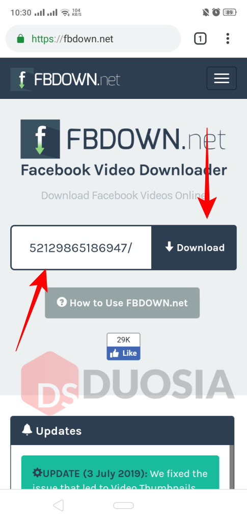 download video dari facebook watch android