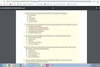 Contoh soal tes P3K administrasi perkantoran dan Kunci Jawaban