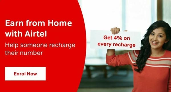 Airtel Superhero offer: Earn from home with Airtel, Recharge any Airtel Number and Earn 4% discount on every recharge
