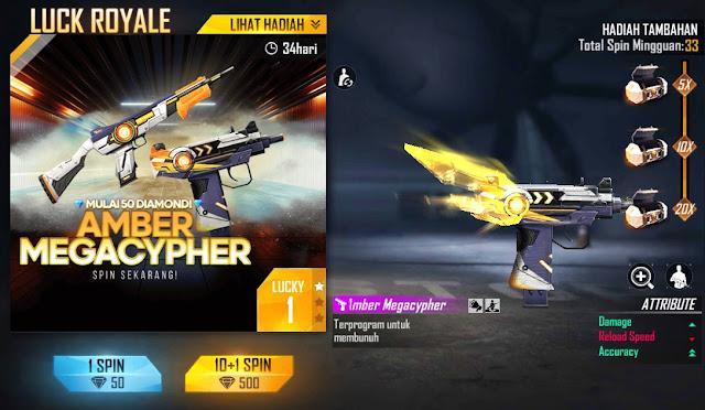 Weapon Royale Terbaru Uzi Amber Megacypher Free Fire