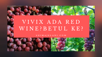 Vivix Ada Red Wine? Betul ke?