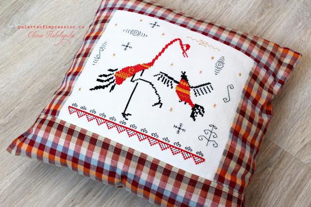 Мезенская роспись в вышивке Мезенские птицы Прикладная вышивка Блог Вся палитра впечатлений