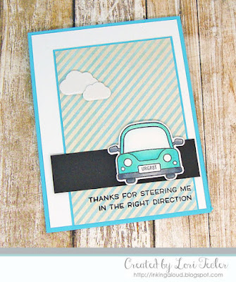 Thanks for Steering Me in the Right Direction card-designed by Lori Tecler/Inking Aloud-stamps and dies from Lawn Fawn