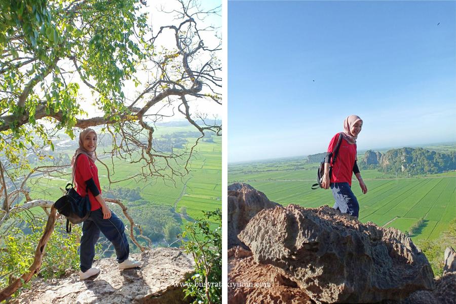 hiking, bukit mok cun, kodiang, sawah padi, jalan-jalan kedah,