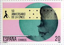 50 ANIVERSARIO DE LA ORGANIZACIÓN NACIONAL DE CIEGOS ESPAÑOLES , ONCE
