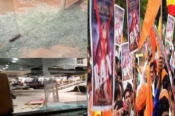 kurukshetra-kesan-mall-vandalized-by-protester-against-padmavat