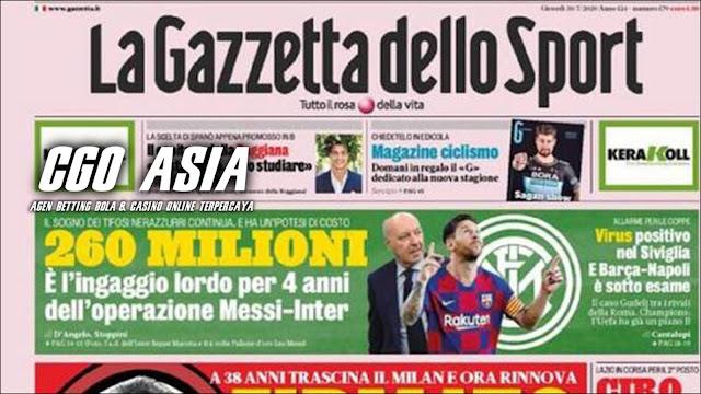 Rumor kepindahan Messi ke Inter Milan belum kunjung reda - Rumahsport.com