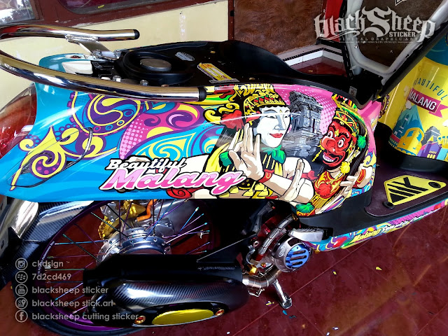honda scoopy beautiful malang cutting sticker
