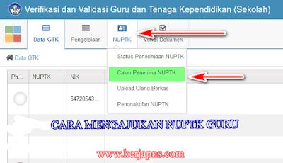 Cara mendapatkan NUPTK Guru dan Operator Sekolah di http://vervalptk.data.kemdikbud.go.id/