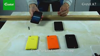 فيديو جديد لاختبار قوة صلابة الهاتف القادم Gretel  A7
