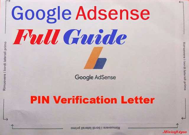 How to verify Google Adsense account || PIN - Verification ||