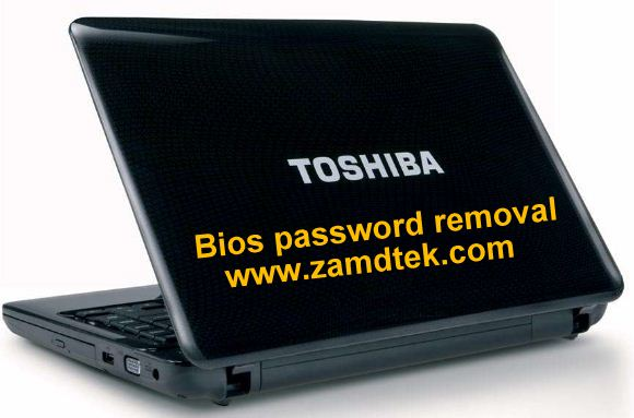 Toshiba A100 series bios password removal
