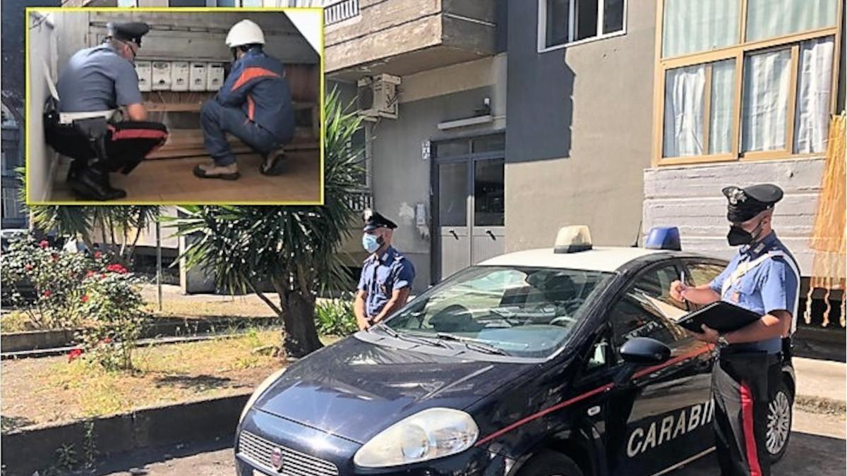 Librino allaccio abusivo ENEL Carabinieri