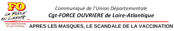 APRÈS LES MASQUES, LE SCANDALE DE LA VACCINATION