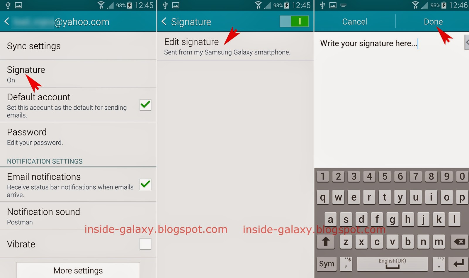 Samsung Galaxy S5: How to Change Signature in the Stock Email App in