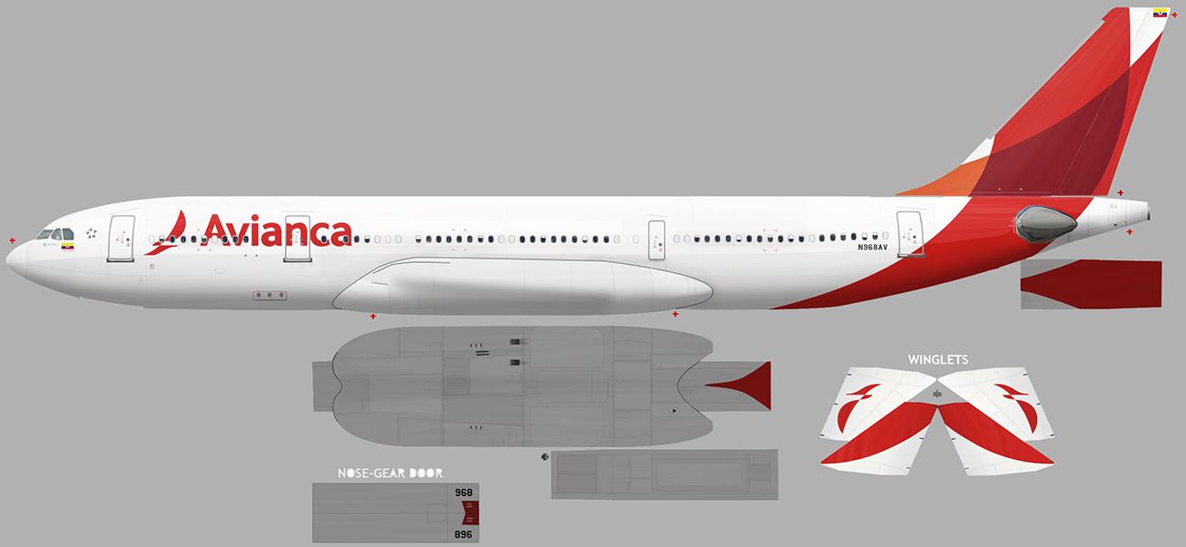FSRepainter: CLS A330-200 AVIANCA Colombia N968AV