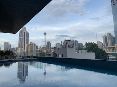 Poolside with view of KL tower