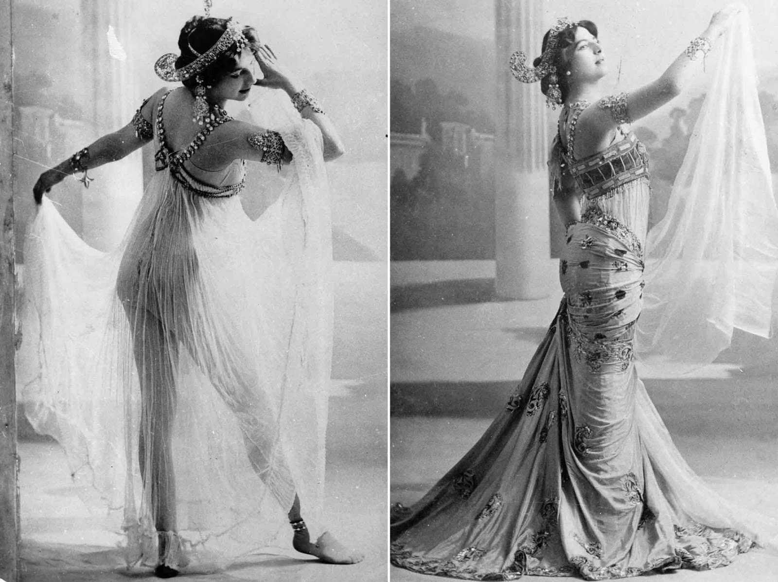 Promiscuous, flirtatious, and openly flaunting her body, Mata Hari captivated her audiences and was an overnight success from the debut of her act at the Musée Guimet on 13 March 1905.