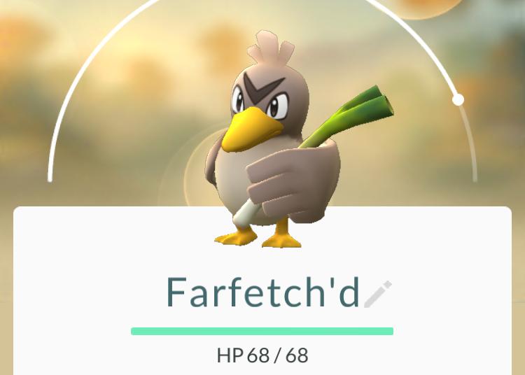 Farfetch'd disponível temporariamente para todos os jogadores de Pokémon GO